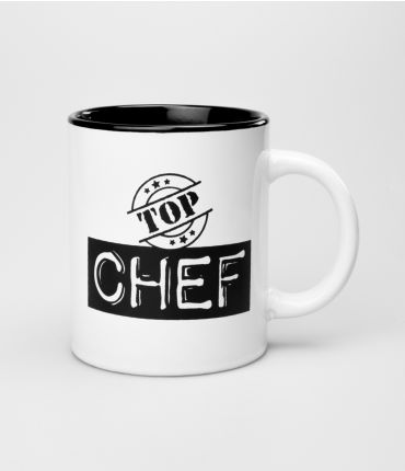 Mok zwart wit -Top Chef