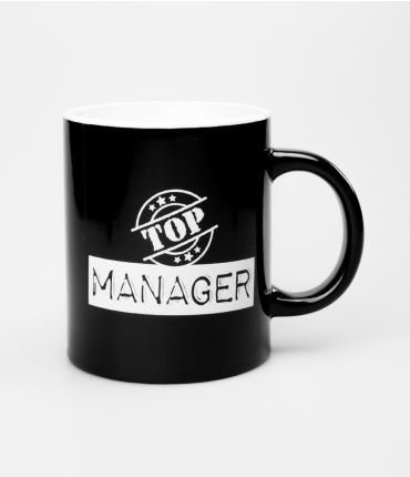 Mok zwart wit -Top Manager