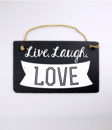 stone slogan live laugh love