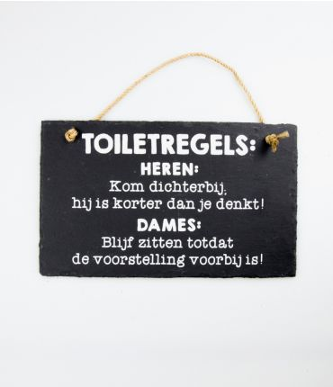 stone slogan toiletregels